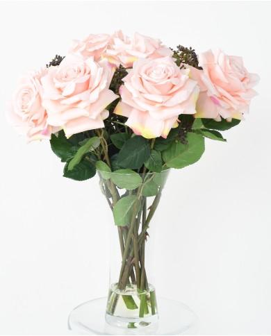 """Künstlicher Blumenstrauss """"Romantica"""" in pink, ca. 57cm"""