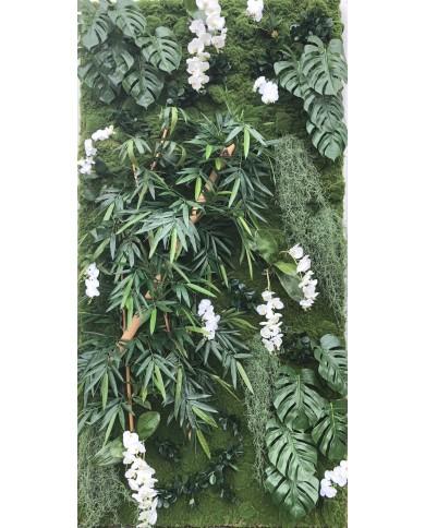 Kunstwand vegetal Bambus-Philo-Mix 260x130cm