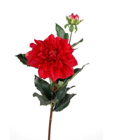 Künstliche Dahlie rot, ca. 70cm