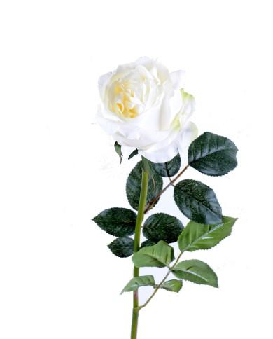 Künstliche Rose weiss, ca. 80cm