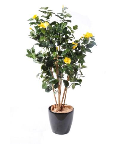 Künstlicher Hibiskus gelb, ca. 110cm