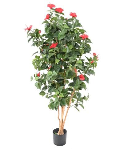 Künstlicher Hibiskus rot, ca. 110cm