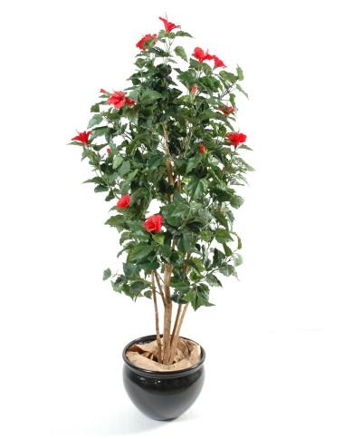 Künstlicher Hibiskus rot, ca. 150cm