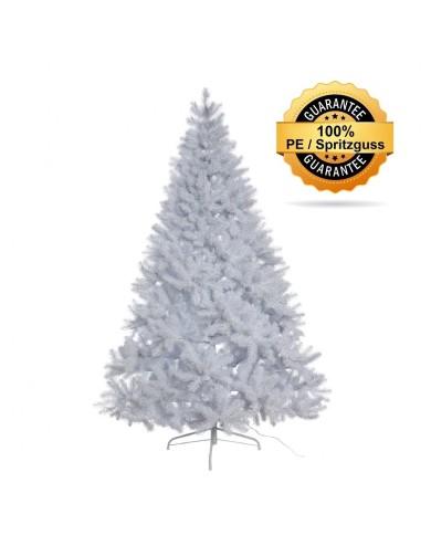 Künstlicher Tannenbaum, weiss, beschneit, Spritzguss, ca. 180cm