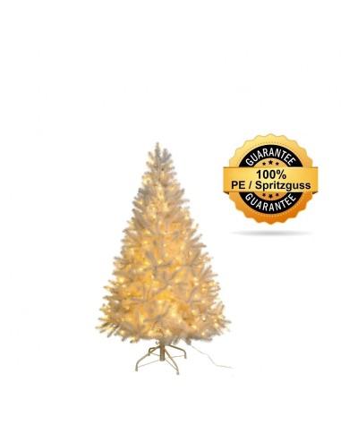 Künstlicher Tannenbaum, weiss, beschneit, LED, Spritzguss, ca. 120cm