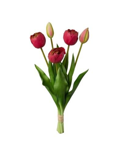 Gefüllte Tulpen 5er Bund, ca 39cm, pink