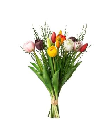Deluxe Blumenstrauss - Gefüllte Tulpen 12er Bund, ca 43cm, bunt gemischt