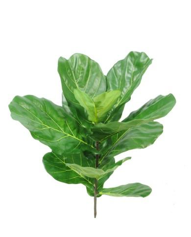 Ficus lyrata (Geigen-Feige), ca. 77cm (UV-Beständig) - ohne Topf - mit Einsteckstab