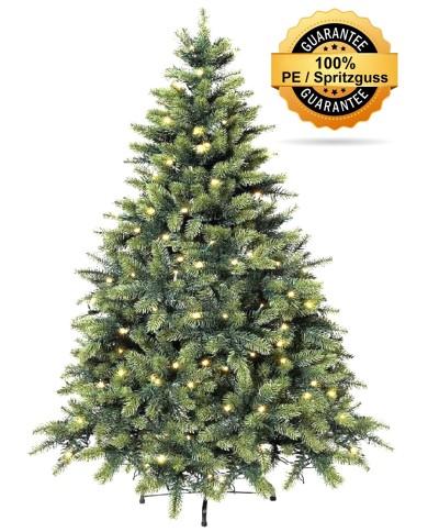 Nobilis  Spritzguss Edeltanne, LED, Künstlicher Weihnachtsbaum, ca. 210 cm